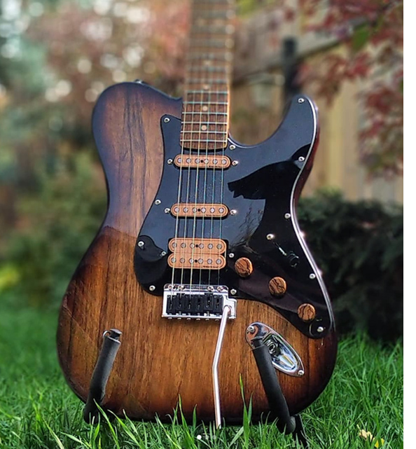 Darrell Braun Guitar with Wiggins Brand Pickup set