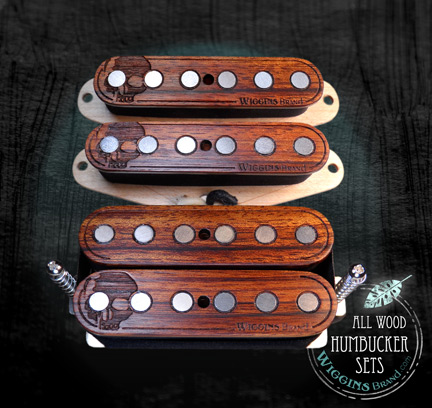 Wiggins Brand custom humbucker sets all wood pickups