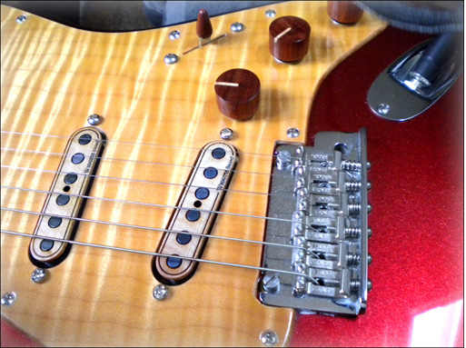 William Bergman WEB Guitars Custom American Stratocaster with Bloodwood knobs and Wiggins Brand pickups