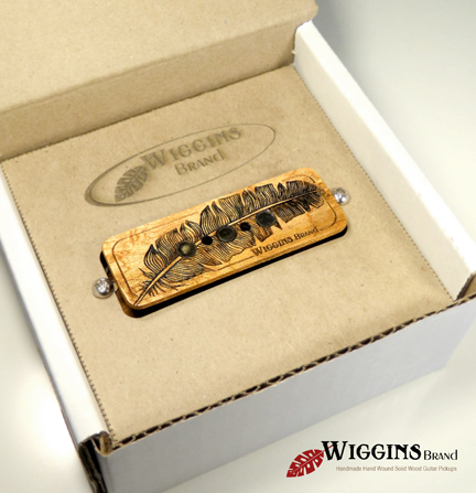 Wiggins Brand Feather CBG All Wood Pickup