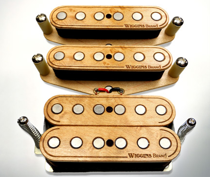 Wiggins Brand humbucker sets in maple wood