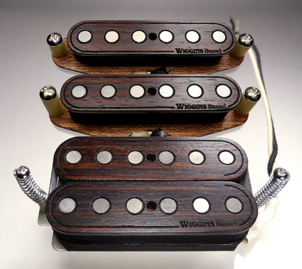 Rosewood humbucker pickup set all wood Wiggins Brand