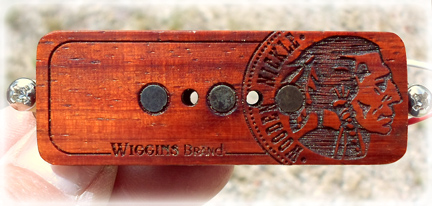 Wiggins Brand Cigar Box Guitar Pickups Laser Etched
