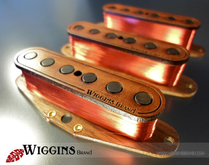 Wiggins Brand Pickups Aged Cherry Strat set