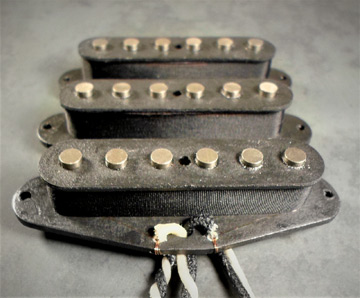 "Wiggins Brand Stratocaster style guitar pickups in our ""traditional"" style"